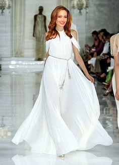 RALPH LAUREN Sutherland draped jersey gown   Wedding   Pinterest ...