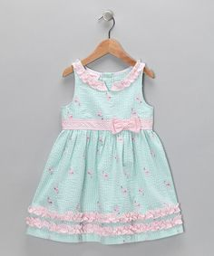 Take a look at this Blue Seersucker Babydoll Dress - Infant, Toddler & Girls  by Samara on #zulily today!
