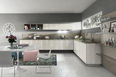 Diseño de cocina moderna color gris