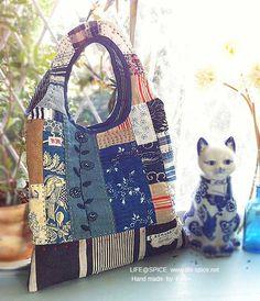 Life@Spice - Vintage indigo bag