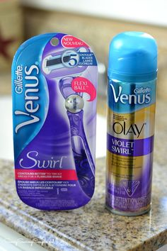 Get Ready for Spring with the Gillette Venus Swirl Razor & Olay Violet Swirl Shave Gel #ad #NewVenusSwirl