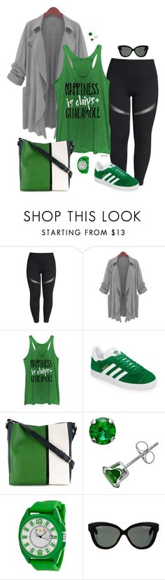 """I know guac is extra- plus size"" by gchamama ❤ liked on Polyvore featuring Zella, Chin Up, adidas, Lanvin, Crayo and Linda Farrow"