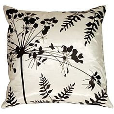 Spring Flower and Ferns Small Throw Pillow #odotco #overstock