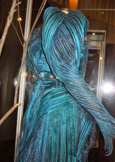 Into the Woods blue Witch dress shoulder pad detail