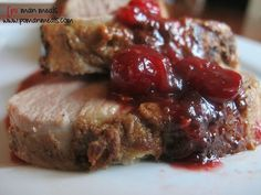 cranberry-dijon pork tenderloin on http://www.pomanmeals.com