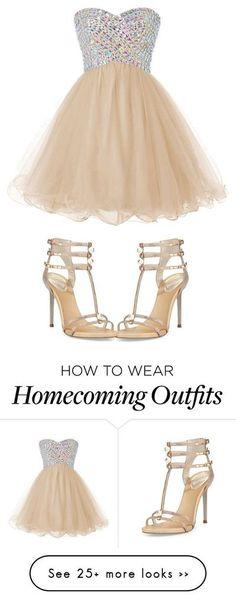 2016 Custom Charming Champange Beading Homecoming Dress,Sexy Sweetheart Evening Dress,Cute Chiffon…
