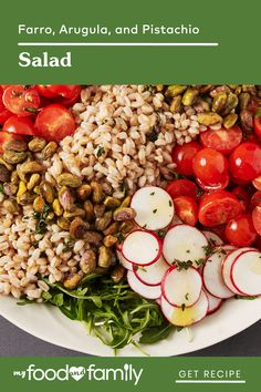 Prepare easy to make vegetarian lunches with this quick recipe that only takes 10 minutes! This textured salad is dressed with crisp, thinly sliced radishes, cherry tomatoes, thyme, and drizzled with tasty HEINZ Organic Apple Cider Vinegar and honey.