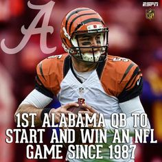 A.J. McCarron gets the 1st NFL win for an Alabama QB since 1987. #Alabama #RollTide