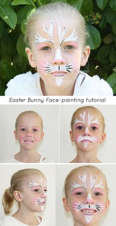 White bunny face paint google search dance costumes 2016 like a fantastic easter bunny face paint tutorial that you can do yourself with only 3 colours solutioingenieria Image collections