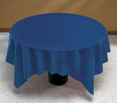 Navy Blue Linen Like Paper Table Covers   82 Inch