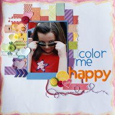 Color Me Happy - Scrapbook.com