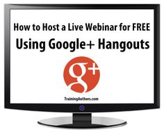 How to Host a Live #Webinar for FREE Using Google+ Hangouts:  In this post we wanted to share what we learned about how to host a live webinar for free using Google+ hangouts.  We have attended live webinars hosted through #GooglePlus and have heard many people talk about doing it.  But, unfortunately, we could not find many tutorials that could walk us step-by-step through the entire process.