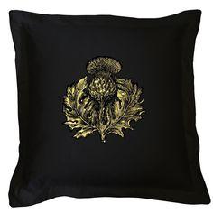 Thistle cushion by Timorous Beasties Black Cushions, Velvet Cushions, Pillow Inspiration, Design Inspiration, Cool Wallpaper, Pattern Wallpaper, Whimsical Painted Furniture, Timorous Beasties, Dark Furniture