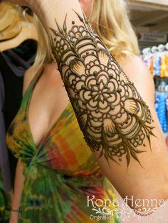 Kona Henna Studio - Forearm Mandala Henna Tatoos, Henna Arm, Henna Mandala, Henna Mehndi, Mehendi, Body Art Tattoos, Henna Designs, Tattoo Designs, Tattoo Ideas