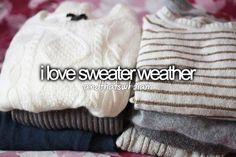Aww sweaters...so soft.