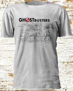 Cool Ghostbusters 2016 Car Blueprint Schematic T-Shirt Camiseta Gildan S-3XL #Gildan #BasicTee
