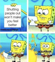 Aquarius Quotes, Aquarius Horoscope, Zodiac Signs Aquarius, Aquarius Facts, Bts Memes, Funny Memes, Hilarious, Funny Comedy, Funniest Memes