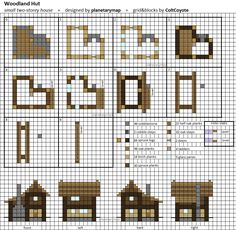 Woodland Hut - Small Minecraft House Blueprint by planetarymap