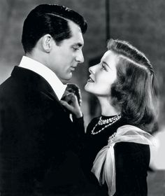 JUST ONE LOOK Cary Grant and Katharine Hepburn in Holiday., Photograph © Columbia Pictures/Photofest.