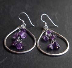 Hey, I found this really awesome Etsy listing at https://www.etsy.com/listing/290866389/purple-rain-large-fine-silver-earrings