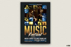 """Check out my @Behance project: """"Music Festival Flyer Template V1"""" https://www.behance.net/gallery/20253131/Music-Festival-Flyer-Template-V1"""