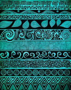 Tribal Aztec Native Geometric Patterns - Pom Graphic Design