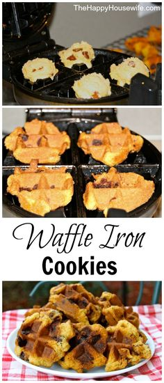 Waffle Iron Cookies   The Happy Housewife