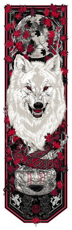 Game of Thrones By The Old Gods Weirwood Banner by Rhys Cooper Dessin Game Of Thrones, Arte Game Of Thrones, Game Of Throne Poster, Jon Snow, Rhys Cooper, Natur Tattoo Arm, Game Of Trones, King In The North, Geniale Tattoos