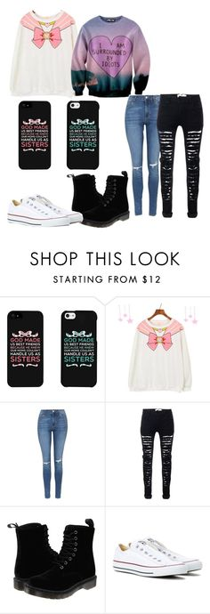 """""""Me and my best friend ♡"""" by sassyunicorngurl ❤ liked on Polyvore featuring Oakley, Topshop, Dr. Martens and Converse"""