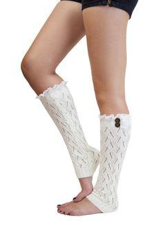 WHITE LACE LEG warmer boot socks winter white boot by gertiebaxter, $32.50