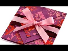 Valentine's Day Handmade Origami Card *Message of love can't be delivered sweeter than this!* - YouTube