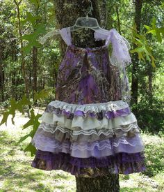 Elegant Camo and lace dress for those by camoandcountrycuties