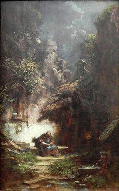 Carl Spitzweg - Recluse Reading