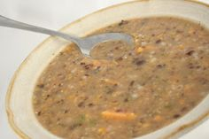 Rice, Bean, and Sweet Potato Soup - Guaranteed to fill you and warm you up on a cold day! www.ultimatedanielfast.com