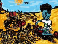 Space Nomads on Behance Design Digital, Digital Art, Adobe Photoshop, Afro Punk, Awkward, Illustration, Steampunk, Character Design, Africa