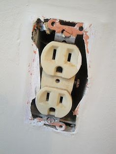 Changing Out an Old (UGLY) Outlet. Seems really simple and is a fairly cheap way to update and modernize your home.