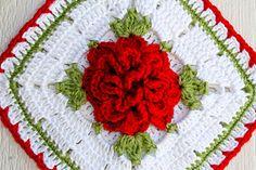 Copy Cat Vintage Rose Potholder ~ free pattern