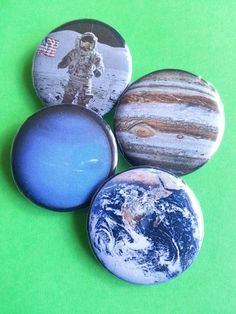 Space Pinback Buttons by PinbackBlackJack on Etsy https://www.etsy.com/listing/202869445/space-pinback-buttons