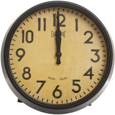 Newgate Clocks Vintage 50s Style Electric Clock ($100) ❤ liked on Polyvore featuring home, home decor, clocks, filler, fondo, newgate clocks, round clock and newgate