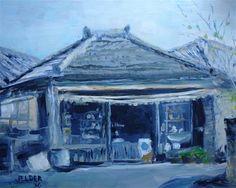 "Daily Paintworks - ""Corner Store"" - Original Fine Art for Sale - © Judith Elder"