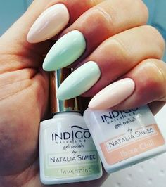 Nevermint + Ibiza Chill by Paulina Puchlerz, Indigo Young Team #nails #nail…