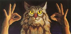 """Can you sign CAT? """"Double Nine Lives"""" by Deaf Artist, Chuck Baird"""