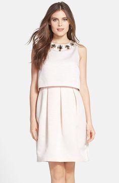 Eliza J Embellished Popover Dress | Visit www.italianist.com