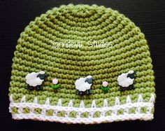 Baa Baa Hat  Sheep Hat  Animal Hat crochet hat by YarndevuStudios