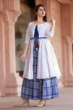 Kurti With Jacket, Gown With Jacket, Indian Bollywood, Bollywood Fashion, Bollywood Style, Anarkali Patterns, Anarkali Dress Pattern, Dress Patterns, Yellow Kurti