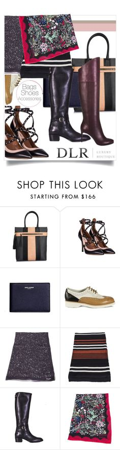 """""""Bag, Shoes, Accessories, oh My!"""" by sherrie-mock ❤ liked on Polyvore featuring Borbonese, Valentino, Yves Saint Laurent, Santoni, Sonia Rykiel, Casadei, women's clothing, women, female and woman"""