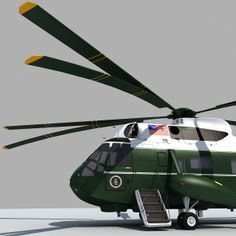 Marine Transport Helicopter | Presidential Transport Marine One Sea King Helicopter 3D Model