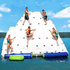 The inflatable rock climb,  If only the Titanic had hit this instead!