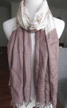 New AUTHENTIC Chan Luu Tie Dye Scarf Cinder Combo #ChanLuu #Scarf #ChanLuuScarf #TieDye #TieDyeScarf #GrayScarf