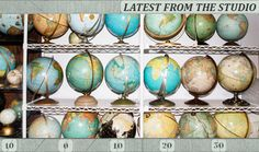 Love this! Vintage Map and Globe Art - Latest from our studio: ImagineNations blog